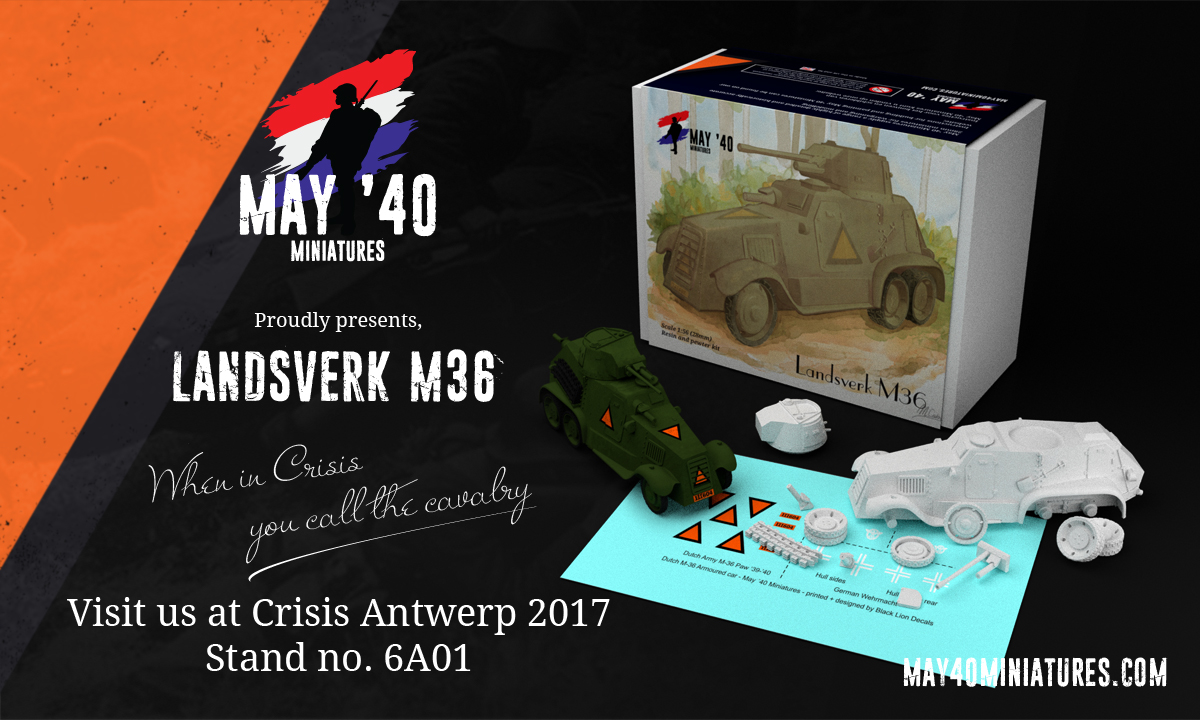 Landsverk M36 armoured car.