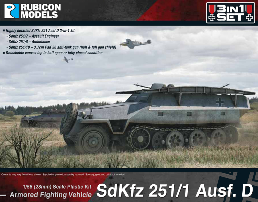 280019 – SdKfz 251 Ausf D (3-in-1)