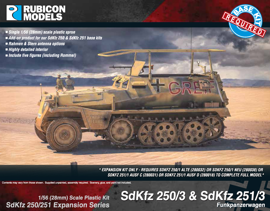 280039 – SdKfz 250/3 and 251/3 (upgrade kit)