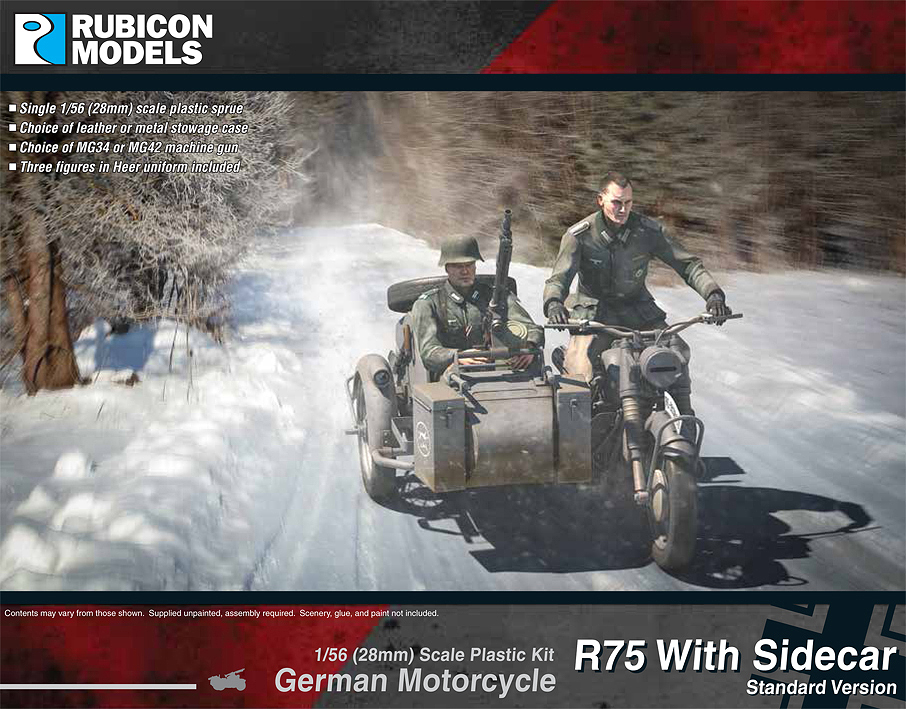 280051 – German Motorcycle R75 with Sidecar – ETO