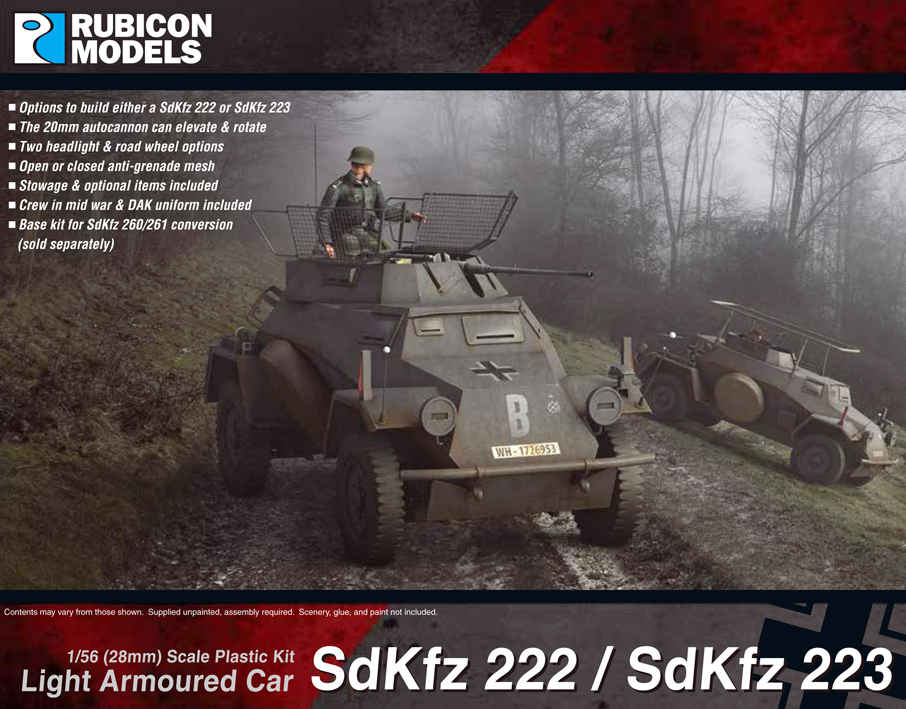 280062 – SdKfz 222 / 223 Light Armoured Car