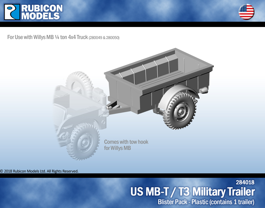 284018 US Jeep MB-T / T3 Military Trailer