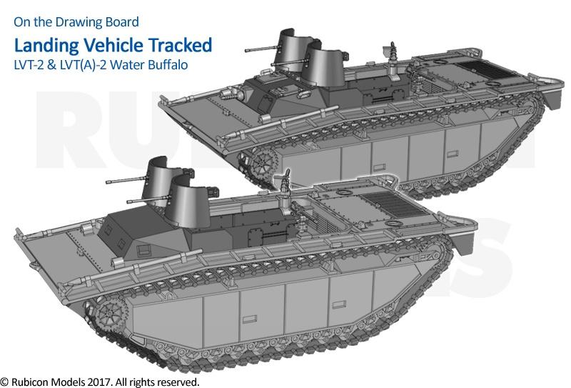 20MM WATERLINE VERSION WWII ALLIED BUFFALO LVT MKII MS28 RESIN MODEL KIT