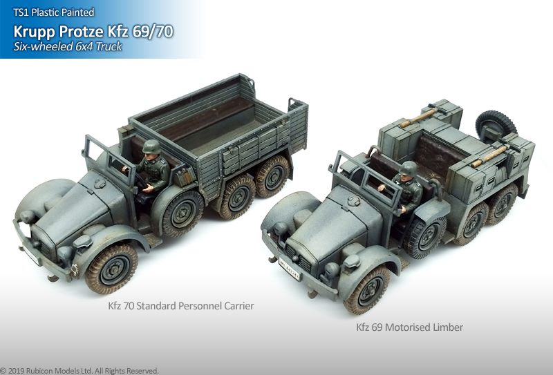 Krupp Protze Kfz 69//70 6x4 Truck 28mm scale Wargames vehicle Rubicon 280082